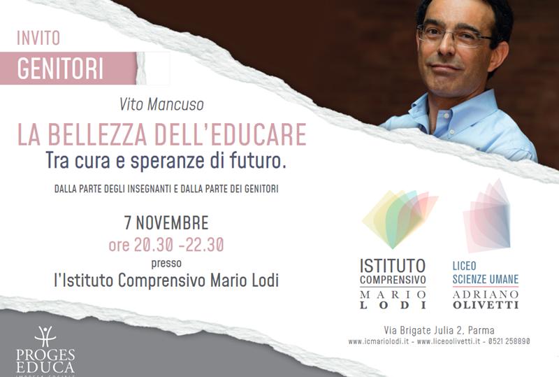 """Incontro con Vito Mancuso: """"La bellezza dell'educare – Tra cura e speranze di futuro"""""""