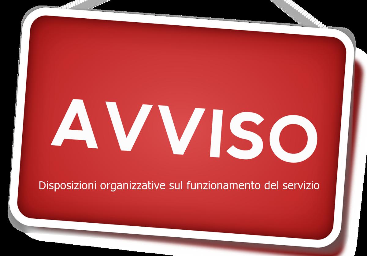 Disposizioni organizzative sul funzionamento del servizio